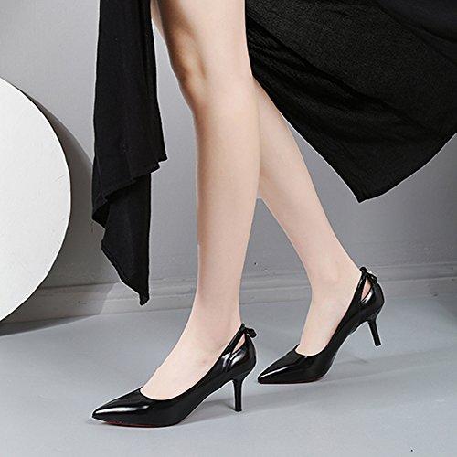 Elemento Primavera Tacchi Pompe Spillo Gioielli Donne Scarpe Nero A Disegno Moda Hoxekle Sexy Alti Nuovi qan7pr8at
