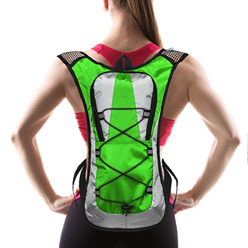Hydration Pack with 1.5 L Water Backpack Bladder. Adjustable...