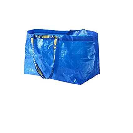 6a9fcd5e79 Amazon.com  LARGE VOLUME ~ IKEA Tote Bags - SET OF 20  Kitchen   Dining