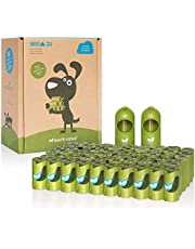 Earth Rated Dog Poop Bags, 900 Extra Thick and Strong Poop Bags for Dogs, Guaranteed Leak-proof, 60 Rolls, 15 Doggy Bags Per Roll, Each Dog Poop Bag Measures 9 x 13 Inches, Includes 2 Leash Dispensers