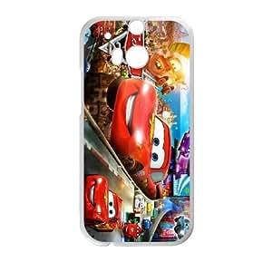 HTC One M8 White phone case Disney Cartoon Comic Series Cars QBC3088538