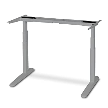 Jarvis Electric Adjustable Height Standing Desk Frame (Gray): Amazon ...
