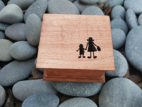 Custom made music box with a mother and son OR mother and daughter holding hands, great gift for mom, mother of groom gift, mother's day gift, simplycoolgifts