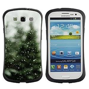 Hypernova Slim Fit Dual Barniz Protector Caso Case Funda Para SAMSUNG Galaxy S3 III / i9300 / i747 [ Neige]