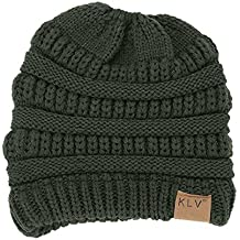Women Beanie, Elogoog Warm Crochet Winter Slouchy Wool Knit Ski Caps Horsetail Hats