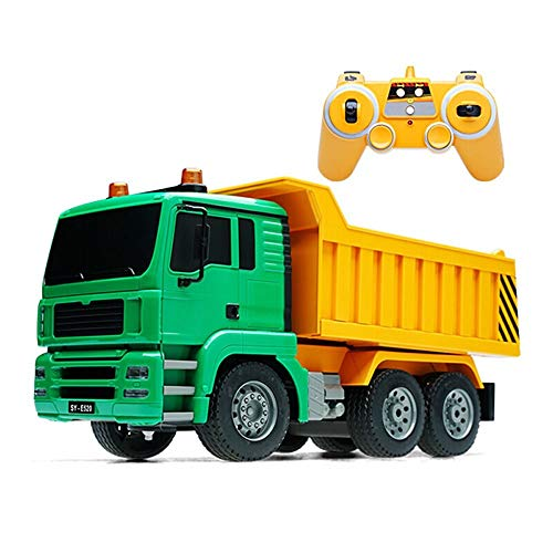 (IBalody Simulation RC Construction Truck Dump 1:20 Remote Control Transport Dump Car Child Boy Toy Car Model Educational Birthday Gifts for Kids 6+)