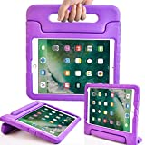 Surom New iPad 9.7 Inch 2017 Case - ShockProof Case Light Weight Kids Case Cover with Handle Stand Case for Apple iPad 9.7 Inch 2017 New Model - Purple