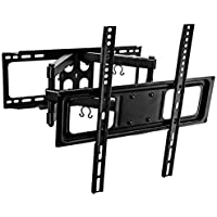 Mount-It! Tilt Swivel TV Wall Mount 32- 55 LCD LED Plasma TV Flat Screen with VESA 200x200, 400x400, Full Motion Articulating Dual Arm Mount 88 Lbs Capacity (MI-3990)