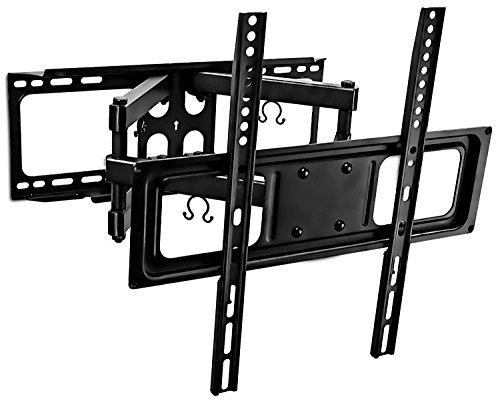 Mount-It! Tilt Swivel TV Wall Mount 32″- 55″ LCD LED Plasma TV Flat Screen with VESA 200×200, 400×400, Full Motion Articulating Dual Arm Mount 88 Lbs Capacity (MI-3990)