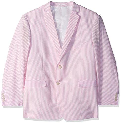 Cotton Seersucker Suit (U.S. Polo Assn. Men's Big and Tall Cotton Suit, Seersucker Pink/White, 52 Regular)