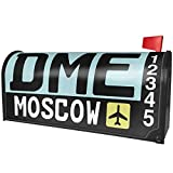 NEONBLOND Airport code DME/Moscow country: Russia Magnetic Mailbox Cover Custom Numbers