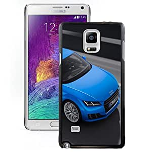 Fashionable Custom Designed Cover Case Samsung Galaxy Note 4 N910A N910T N910P N910V N910R4 With 2015 Audi TT Blue Phone Case Cover