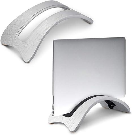 Eichenholz Schwarz kalibri Laptop St/änder Notebook Stand Halterung aus Holz 3X Silikoneinsatz f/ür MacBook Air//Pro//Pro Retina//Tablet iPad
