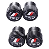 TK-KLZ 4Pcs Metal TRD Logo Car Bike Scooter SUV Truck Tires Premium Valve Stem Caps for Toyota Racing Development Modified Models