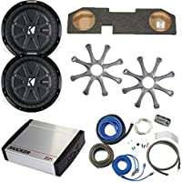 Kicker Dodge Ram Quad / Crew Cab 02-15 - Dual 12 CompRT subs in box, 800 Watt KX Amp, Grilles & Wire Kit