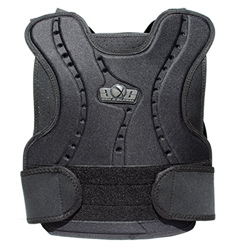 Paintball GXG BLACK Chest Protector Front/Back NEW
