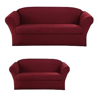 Amazon.com: Sapphire Home Juego de funda para sofá sofá sofá ...