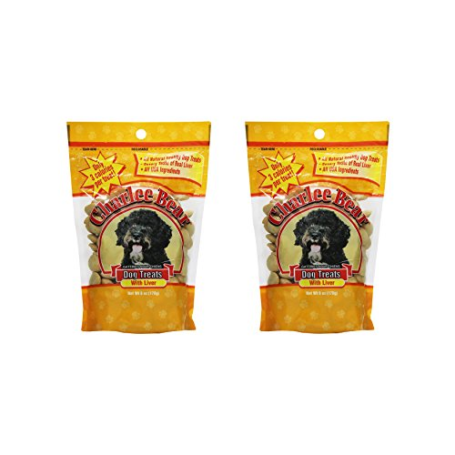 - Charlee Bear Dog Treats with Liver (2 Pack) 6 oz Each