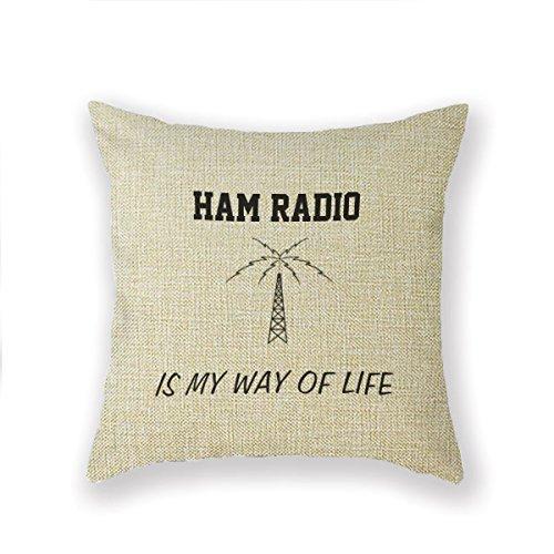 Hugo jamón, Radio, aficionados de algodón lino cuadrado ...