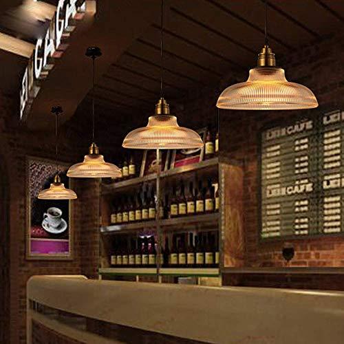 XHX Luminaires suspendus, Maison de campagne Vintage Lampe suspension rustique, Verre éclairage d'intérieur Hauteur réglable Salon Chambre à coucher Cuisine Rond   E27   30Cm