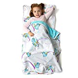 "Toys : JumpOff Jo - Little Jo's Toddler Nap Mat - Children's Sleeping Bag with Removable Pillow for Preschool, Daycare, and Sleepovers - Original Design: Unicorn Pixie Dust - 43"" x 21"""