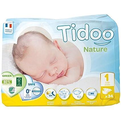 Tidoo Pañales T1 Recién Nacido (2/5 kg), 34 Unidades: Amazon.es: Hogar