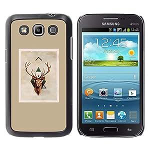Cubierta protectora del caso de Shell Plástico || Samsung Galaxy Win I8550 I8552 Grand Quattro || Christmas Brown Beige @XPTECH