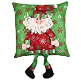 Fheaven (TM) 35cm x35cm Christmas Pillow Xmas Decorations Santa Claus Snowman Family Christmas Pillow (A)