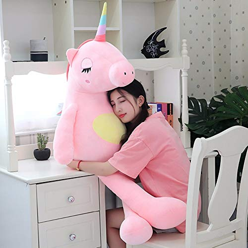 Giant Plush Toys Cute Rainbow Horse Soft Doll Large Stuffed Animal Soft Toys for Children Gift for Girlfriend Thing You Must Have Gift Tags The Favourite Anime Toddler Superhero Baby Boy Must Haves