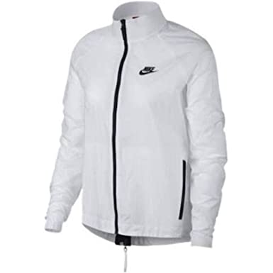 47140d28999f Image Unavailable. Image not available for. Color  NIKE Women s Tech  Hypermesh Nylon Jacket Windrunner White ...