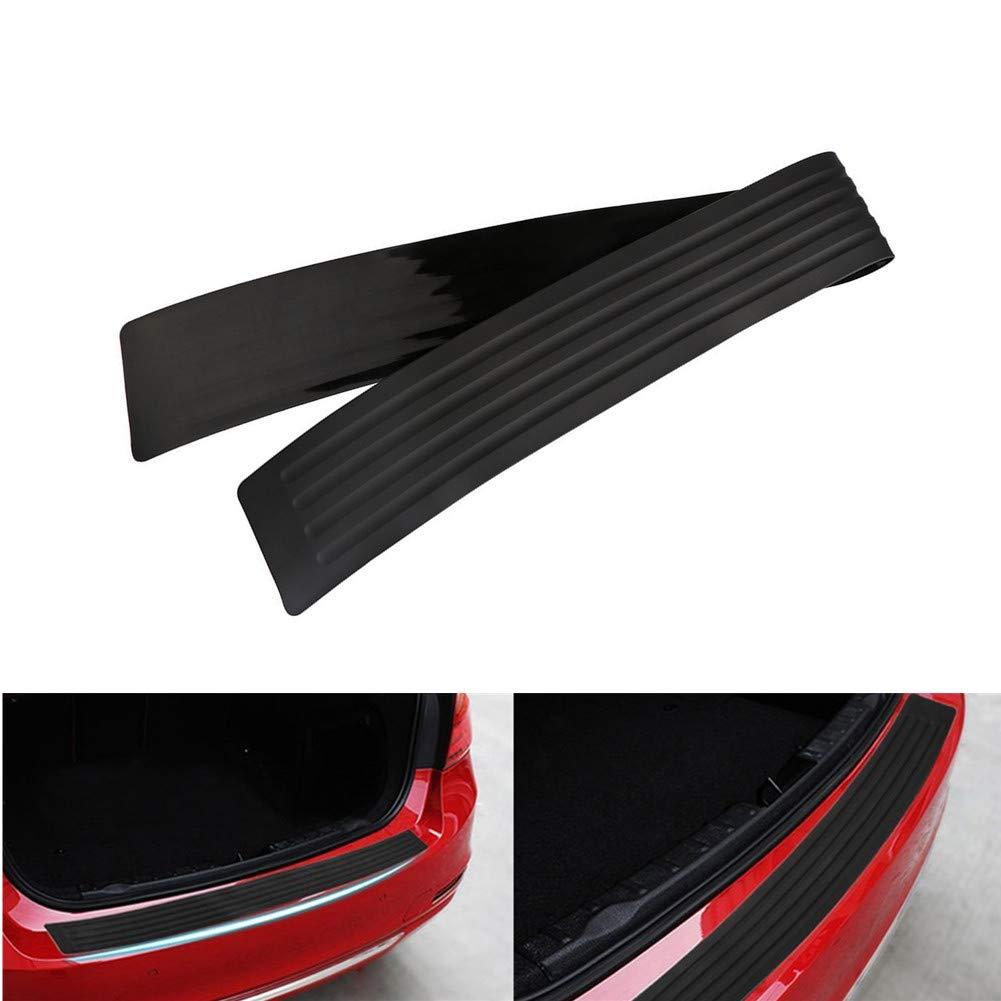 104cm//41 inches Wefond Universal Rubber Rear Guard Bumper Protector Anti-Scratch Trim Cover for Car Pickup SUV Truck