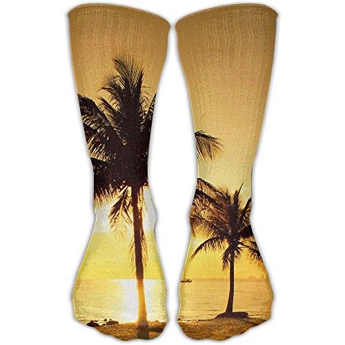 Coconut Trees On The Beach Scene Running & Fitness Socks Sports Compression Socks ()