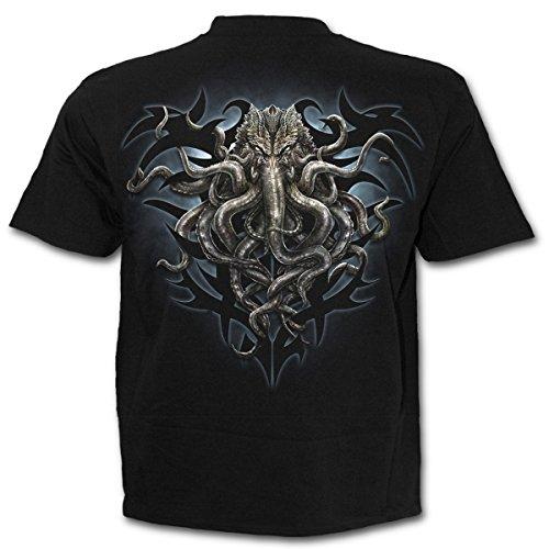 Herren T-Shirt SPIRAL - Cthulhu - schwarz - L029M101