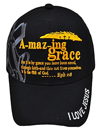Price comparison product image Altis Apparel Jesus is The Key - Christian Religious Baseball Cap - Adult Hat (Amazing Grace)