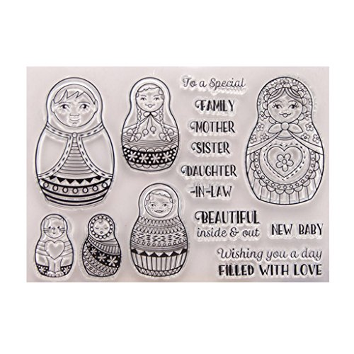 SprinZ Animals Clear Silicone Rubber Seal Stamp for DIY Album Scrapbooking Photo Card,Perfect for DIY Greeting Card Notebook Invitation Card