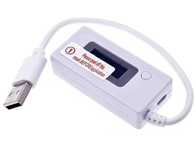 Amazon.com: Detector LCD USB voltímetro amperímetro cargador ...