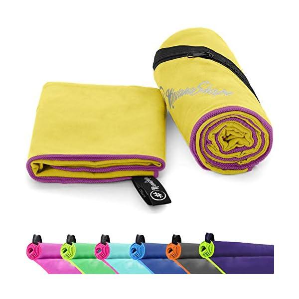 51RL8nNe3iL NirvanaShape ® Mikrofaser Handtücher   saugfähig, leicht, schnelltrocknend   Badehandtücher, Reisehandtücher…