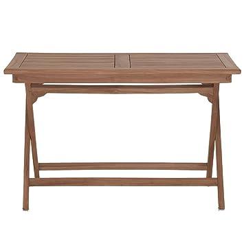 Amazon De Gartentisch Holz Massiv Klappbar Rechteckig Teakholz