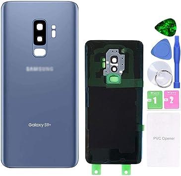 MovTEK Tapa Trasera de Cristal de Batería Trasero Original para Samsung Galaxy S9 Plus G965F con Lente de Cámara (Azul Coral): Amazon.es: Electrónica