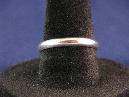 3mm Low Dome Sterling Silver 1/2 Round Ring ()
