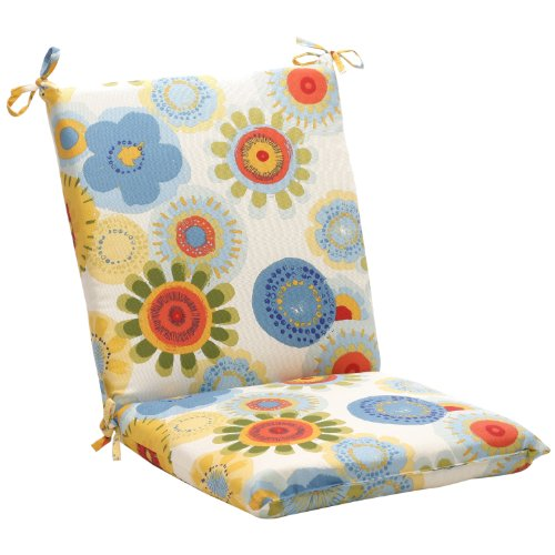 (Pillow Perfect Indoor/Outdoor Multicolored Floral Square Chair Cushion)
