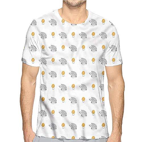 t Shirt for Men Hedgehog,Sketch Art for Kids Custom t Shirt XL]()
