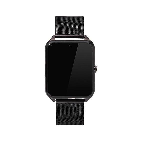 Reloj Inteligente Reloj de Pulsera Bluetooth DE 1.5 Pulgadas con cámara Ranura para Tarjeta TF/SIM podómetro Anti grabación perdida para Hombres ...