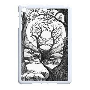 The king of beasts Tiger Hard Plastic phone Case Cover+Free keys stand For Ipad Mini Case ZDI041615