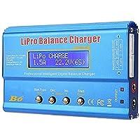 RC balanslader, LiPo batterijoplader, mini balansontlader Professionele balanslader B6 80W digitale LCD balanslader…