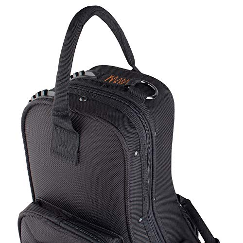 Protec Alto Saxophone Contoured PRO PAC Case with Flute Pocket, Black, Model PB304CT