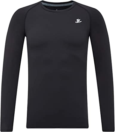 Moisture Wicking Boys Quick-Dry Long Sleeve Top Compression Baselayer T-Shirt