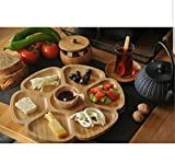 Natural Bamboo Snack Plate - Breakfast Plate/Ecofriendly/Antibacterial/Healthy/Original Design