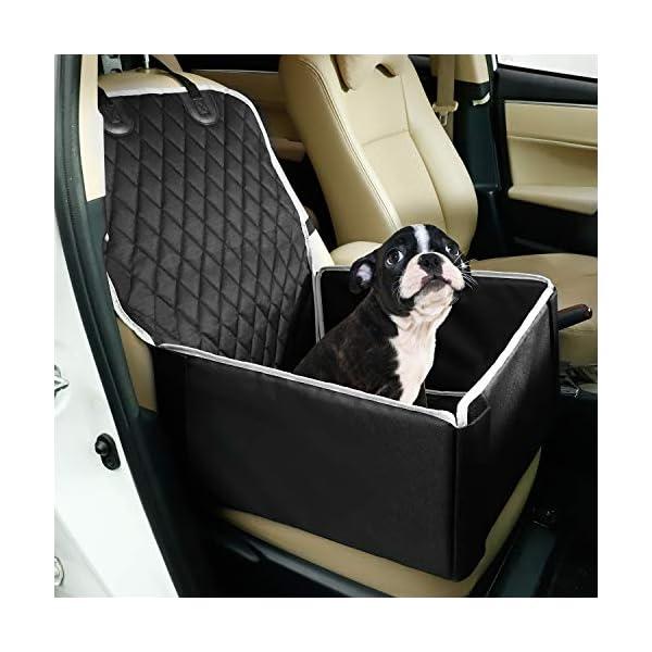 51RLBBIe44L Toozey Hunde Autositz Hundesitz Auto für Kleine und Mittlere Hunde - Extra Stabiler Hundesitz für Rückbank und…