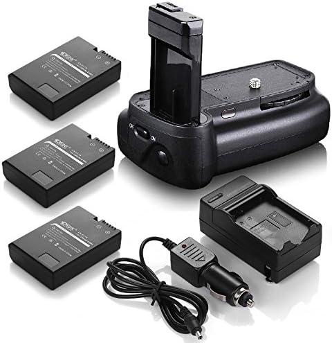 DSバッテリーグリップ+ ( 3パック) en-el14電池+充電器for Nikon d3200d3300d5200